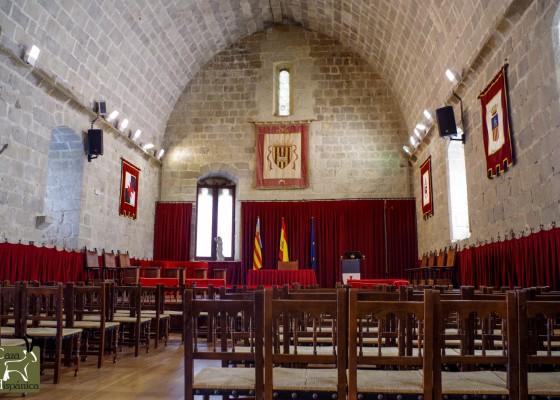 Inside medieval castle