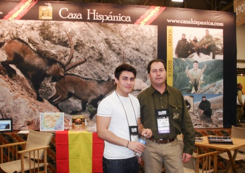 Spanish outfitter, father and son