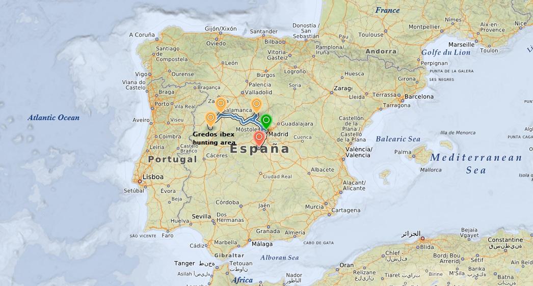 Gredos ibex hunt itinerary
